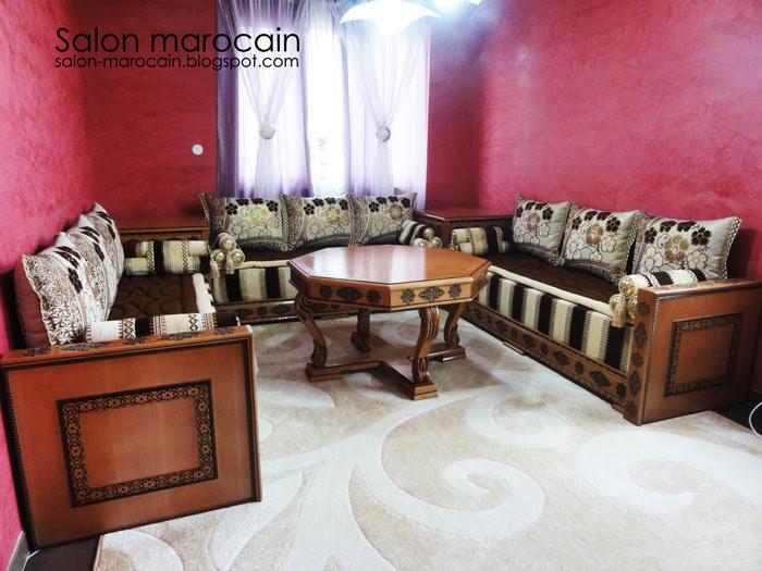 salon andalousie marocain 2014 - Decoration Salon Moderne 2013 En Marron