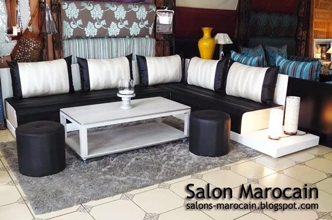 salon blanc Salon marocain moderne 2014